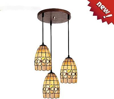 Amazon.com: Lámpara de araña de estilo Tiffany creativa de 3 ...