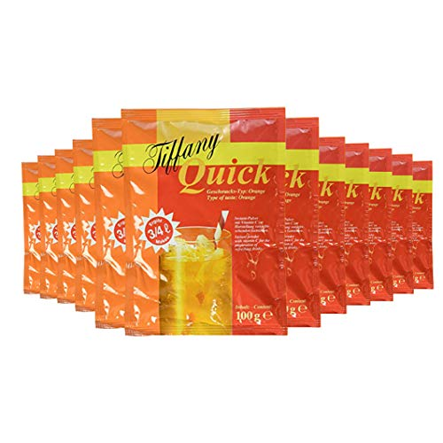 Tiffany Quick Orange Instant-Pulver, 12er Pack (12 x 100 ml)