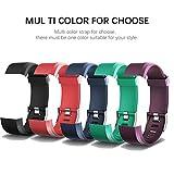 AITOO ID115 Plus Ersatzbänder, TPU-Ersatzarmband für Fitness-Tracker-Uhr ID115 Plus HR-Armbänder, 5 Farben – Schwarz/Blau/Violett/Grün/Pink