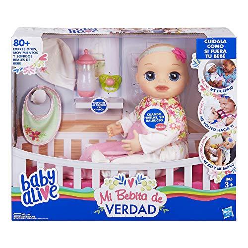 Baby Alive Muñeca Mi Bebita de Verdad, Rubia