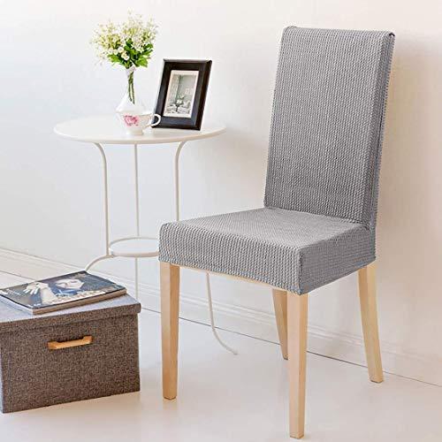 Cubiertas de silla de estiramiento, silla suave decorativa Fundas de asiento lavables removibles cubiertas de protectores elásticos Cubiertas para el hotel Restaurante Body Party Home Comedor (D. Café