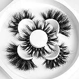 20-25MM Mink Lashes 3D Mink Eyelashes 3 Styles False Eyelashes Fluffy Volume Long 25mm Mink Lashes Dramatic Lethot Lashes (25mm)