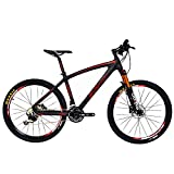 BEIOU Carbon Fiber Mountain Bike Hardtail MTB 10.65 kg Shimano M6000 DEORE 30 Speed Ultralight Frame RT 26-Inch Professional Internal Cable Routing Toray T800 Carbon Hubs Matte