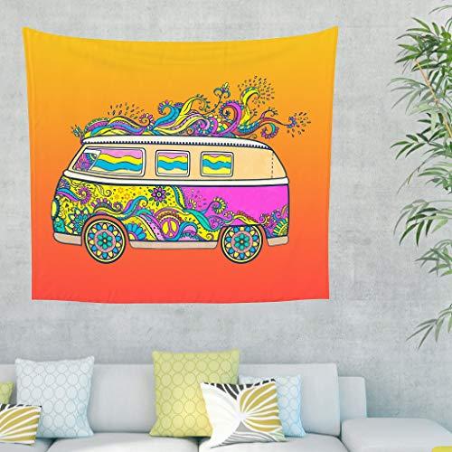 Yrgdskuvle Tapiz para colgar en el dormitorio o en el coche de la India, para el dormitorio o el salón, color blanco, 230 x 150 cm