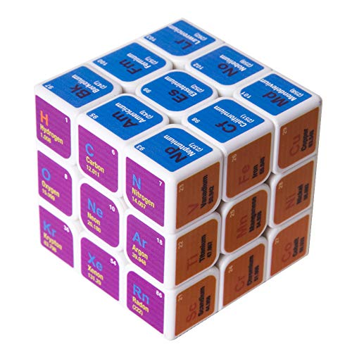 Speed Cube 3x3x3 Chemical Elements Magic Cube Puzzles,Creative Educational Toys for Kids Students Adults