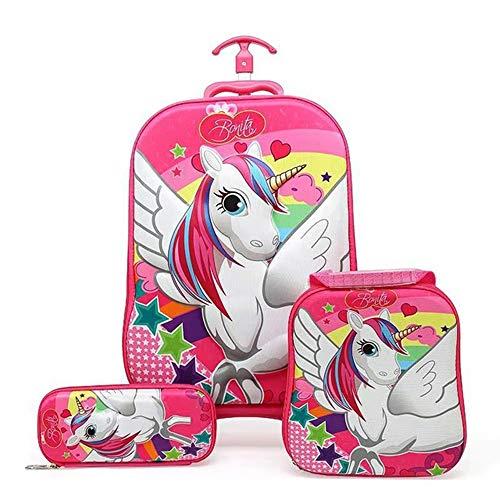 Peuter Rugzak Yuan Ou Kinderen koffer koffer meisjes koffer Rolling koffer bagage school wielen rugzak