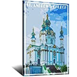 Kyiv Kiev Poster Ukraine Poster St. Andrew 's Kirche