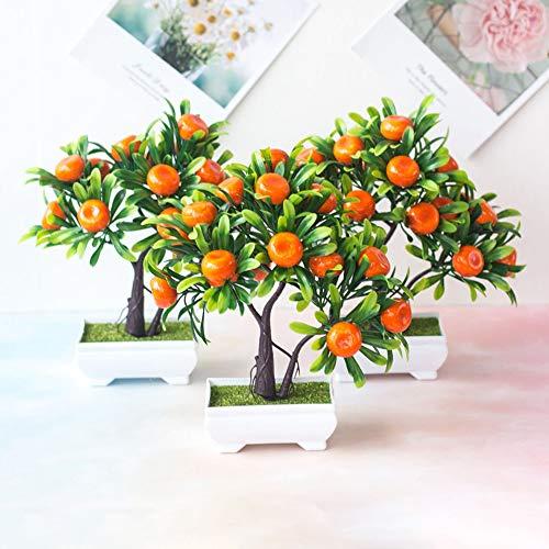Gaweb Künstliche Bonsai für Party-Dekoration, 1 Stück, künstliche Früchte Orangenbaum, Bonsai, Zuhause, Büro, Garten, Schreibtisch, Party, Dekoration, Orange, Orange, 1