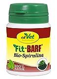 cdVet Naturprodukte Fit-BARF Bio-Spirulina 36 g - Hund & Katze -  Nährstoffe - Darm - Basenbildung - Säurehaushalt des Magens - Vitamine - Spurenelemente - Mineralstoffe - Rohfütterung - BARFEN -