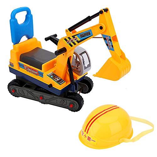 Excavadora de juguete grande para niños Tractores Excavadora sin pies Excavadora Pala Función manual, Máquina excavadora de brazo largo para niños jugando