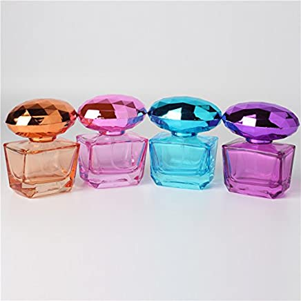 25ML, Purple, Glass : 25ML Spray Quartet Bottle Glass Perfume Spray Dispensing Cosmetic Empty Bottle 1 Piece