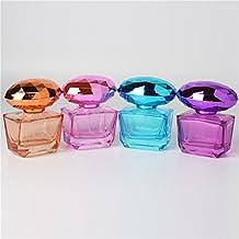 25ML, Purple, Glass : 25ML Spray Quartet Bottle Glass Perfume Spray Dispensing Cosmetic Empty Bottle 1 Piece
