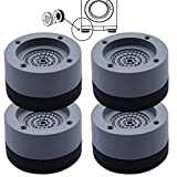 4 Stück Vibrationsdämpfer, Universal Schwingungsdämpfer, Waschmaschine Antivibrationsmatte, für Waschmaschinen Trockner Möbel Kühlschrank