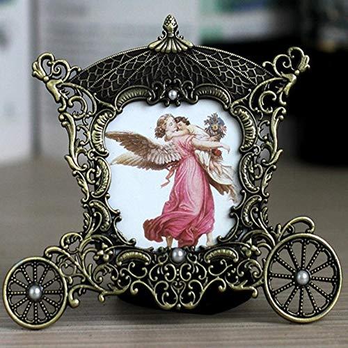 Vintage Metalen Wagen Fotolijst Decoratie, Fotolijst Met Paard En Wagen De Baby Fotolijst Fotoshoot Grote Baby Geschenken En Huwelijksgeschenken