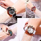 JSL Reloj de lona personalizado con hombre s reloj de cuarzo británico reloj de tendencia deportiva-blanco_plata