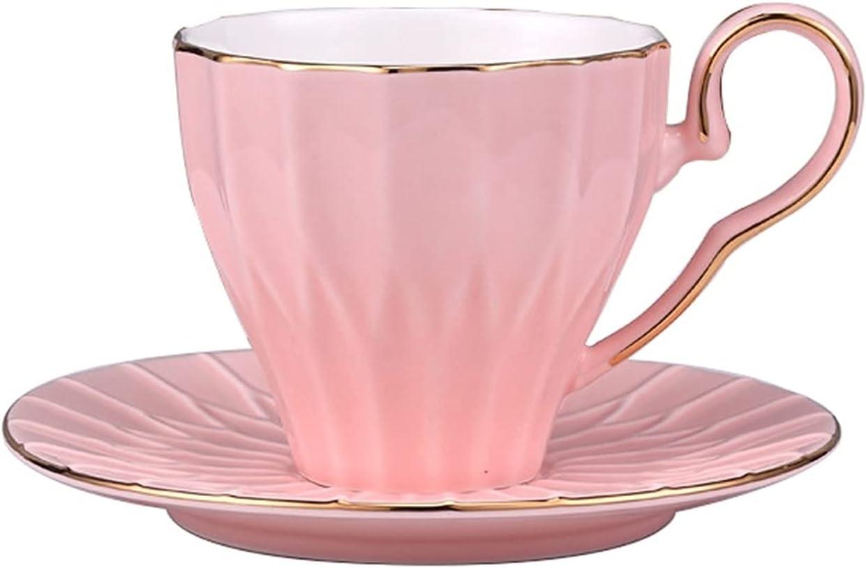 XJSM Porcelain Coffee Mug Spasm price New item and Saucer Set 225ml Creative A 7.6oz
