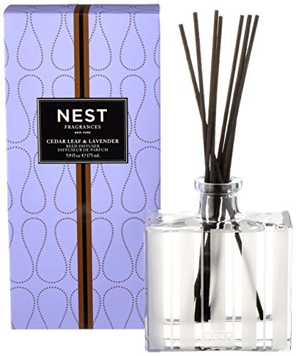 NEST Fragrances Reed Diffuser- Cedar Leaf & Lavender , 5.9 fl oz