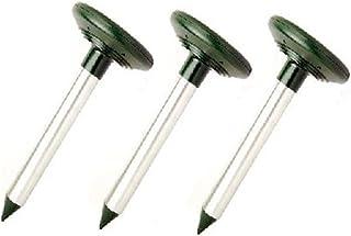 地面に刺すだけ 二台で効果倍増 ソーラー 式 モグラ 害虫 退治 器 (3台セット)