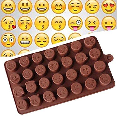Fishyu Fashion Cake Baking Mold Silicone Emoji Funny Face DIY Chocolate Sugar Candy Fondant Soap Jelly Mould Kitchen Tools
