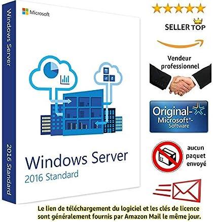 Microsoft Windows Server Standard 2016 | Clé d'activation licence originale | Envoi en 24 heures | Livraison gratuite par e-mail