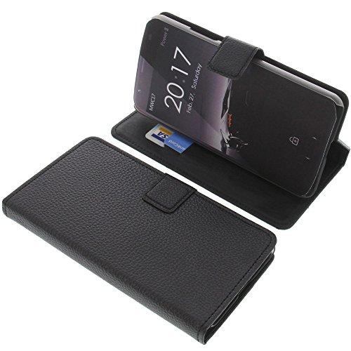 foto-kontor Tasche für Ulefone Power 2 Book Style schwarz Kreditkarte Schutz Hülle Buch