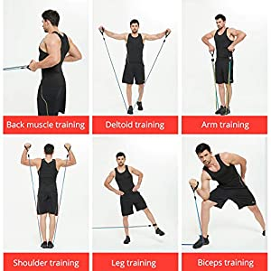 Resistance Bands Set,Workout Bands for Men & Women,Stackable Up to 150 lbs,Home Gym Equipment Dumbbell Set Partner, Perfect for Resistance Training, Physical Therapy, Home Workouts
