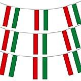 UNGARISCH FLAGGE FAHNE UNGARN PARTY EURO DEKORATION GROß EUROPÄISCH RIESIG 20 X 30CM ALLWETTER PLASTIK FAHNENTUCH EREIGNIS BANNER SCHULE NATIONAL DAY THEMA - UNGARISCH FLAGGE FAHNE, 33FT -...