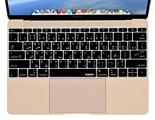 『MacBook 12(A1534)用のXSKNアラビア語言語のシリコーンカバー新しいMacBook Pro 13(A1708、No Touch Bar)キーボード - USレイアウト (ブラック)』の2枚目の画像