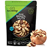 Raw Brazil Nuts - No Shell, Whole, Superior to Organic (16oz - 1 Pound) Packed Fresh in Resealble Bag - Trail Mix Snack - Healthy Protien Food, All Natural, Keto Friendly, Vegan, Gluten Free, Kosher