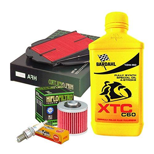 Kit tagliando Bardahl XTC C60 10W50 filtro olio aria candele Yamaha TDM 900/ABS