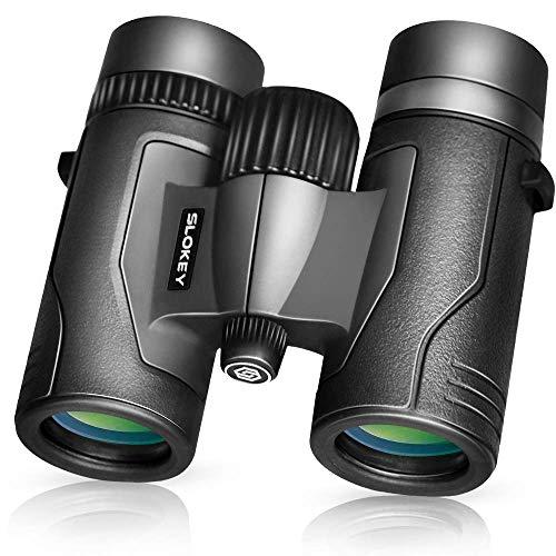 Prismáticos 8x32 Slokey – Súper Ligeros, Pequeños y Compactos con Óptica Superior para Imágenes Súper Nítidas y Brillantes en HD. Ideales para Observar Aves, Excursiones, Turismo, Eventos Deportivos…