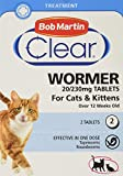 Bob Martin Clear | Cat Wormer Tablets, Suitable for Kittens | Clinically Proven Effective Treatment (2 Tablets)