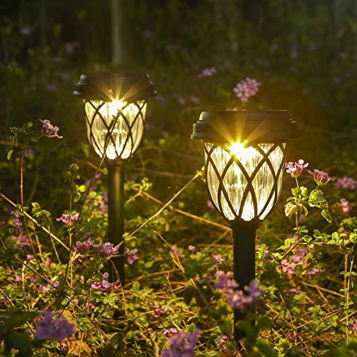 Lámpara Solares para Jardín, Tomshine Luces Solares Jardín, 6 piezas Luz Exterior Impermeable Jardin Solares Exterior Luces de Decoración para Caminos de Jardín para Céspe, Patio, Pasillo