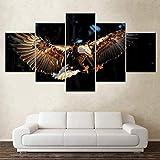 Ysurehom 5 Leinwandbilder Der Fliegende Adler Tier 5 Stück