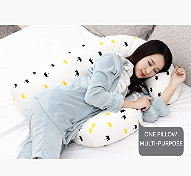 H-Shaped Pregnancy Pillow for Pregnant Women,Soft Pregnancy Body Pillow,Support for Back, Hips, Legs,Maternity Pillow with De