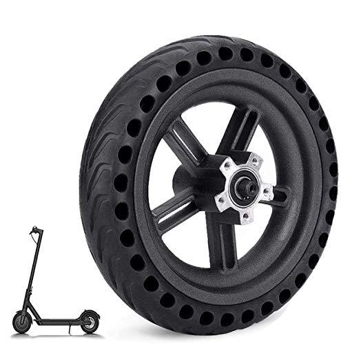 Aeuson - Rueda neumática con llanta de scooter eléctrica - Neumáticos antideflagantes para bujes Xiaomi M365 - Scooter eléctrico con ruedas antideslizantes - Neumático con llanta, Nero-2