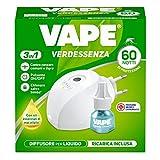 Vape Specialist Vape Elettroemanatore Diffusore Liquido Verdessenza + Ricarica, Protezione Da Zanzare Fino A 60 Notti, 1 Confezione - 30 g