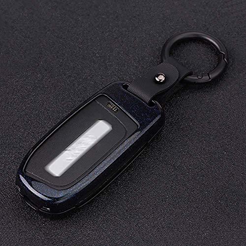 Funda de fibra de carbono con textura para llavero, carcasa, funda protectora para piel, protector de chaqueta, apto para Jeep Grand Cherokee Renegade, llave inteligente de 2 3 4 5 botones, rojo
