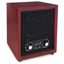 Ivation Ozone Generator Air Purifier, Ionizer & Deodorizer -Purifies Up to 3,500 Sq/Ft -Great for Dust, Pollen, Pets… 1 Powerful Ion Energy – Releases Negative Ions to Purify & Refresh Up to 3,500 Sq/Ft Space for 24/7 Dust Control Improves Air Quality – Helps You Breathe Fresher, Cleaner Air with Reduced Dust, Allergens & Other Irritants Beneficial Ozone Generation – Activated Oxygen Removes Odors from Tobacco, Food, Pets, Paint, Mold & Mildew