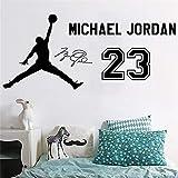 pegatinas de pared NBA Baloncesto Star Jordan No. 23 Jersey Dormitorio del dormitorio Dormitorio Cama Sofá principal Fondo decorativo