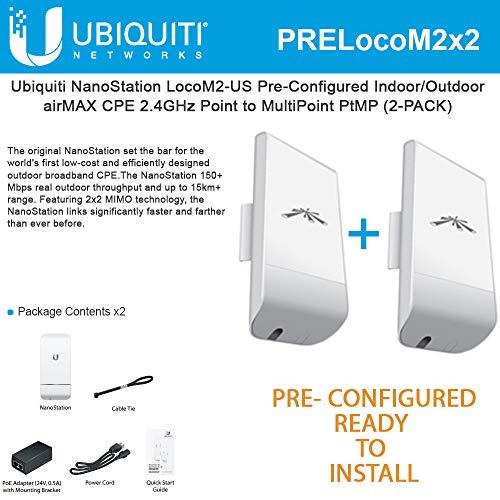 Ubiquiti LocoM2 2-PACK PRE-CONFIGURED...