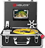 Pipe Inspection Camera,IHBUDS Pipeline Drain Industrial Endoscope, 30M/100ft IP68 Waterproof Snake...