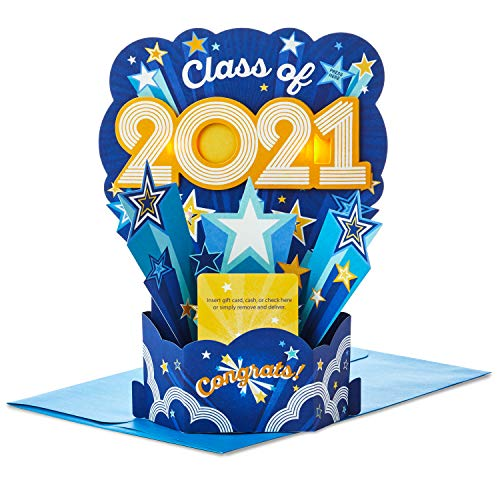 Hallmark Paper Wonder Musical Pop Up Graduation Card and Gift Card Holder (Plays Pomp and Circumstance)