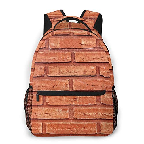 Lawenp Fashion Unisex Backpack Wall Brick Surface Bookbag Lightweight Laptop Bag for School Travel Outdoor Camping