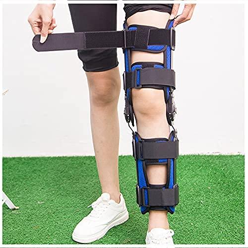 Ortesis de rodilla, ROM con bisagras Ortesis de rodilla Estabilizador de ortesis de rodilla Fijación quirúrgica ajustable Lesión de MCL y PCL para el cuidado postoperatorio después de la cirugía