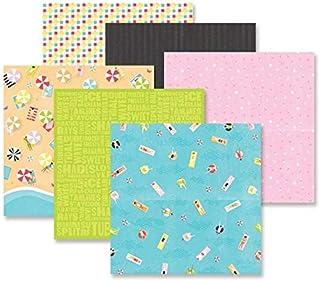 Creative Memories 12 x 12 KRAFT /& WHITE Designer Paper Pack// 6 sheets NEW