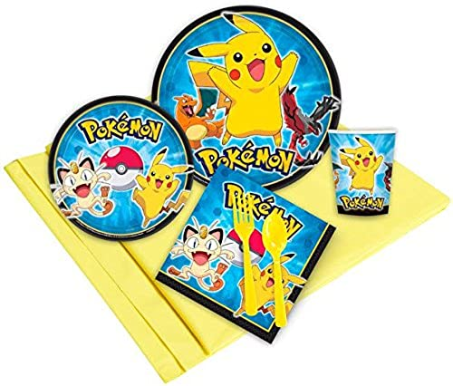 Pikachu Pikachu Pikachu Party Pack for 8 with Tablecover by BirthdayExpress  la mejor selección de