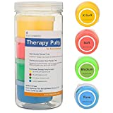 FlintRehab Premium Quality Therapy Putty (4 Pack, 3-oz Each) for Hand Exercise Rehab. Fidgeting, and Stress...