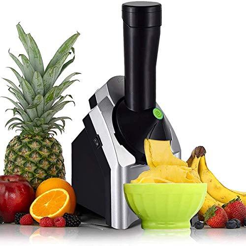 Home Máquina Para Hacer Helados De Frutas, Maquina De Helado De Frutas Haga Deliciosos Sorbetes De Helado Y Yogur Helado Para Postre Hacer, Saludable,Negro