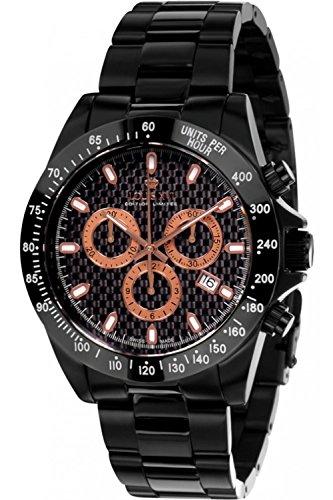 LOUIS XVI Herren-Armbanduhr La Fayette Stahlband Schwarz Rosegold echtes Karbon Chronograph Analog Quarz Edelstahl 570